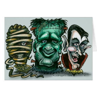Movie Monsters Greeting Card