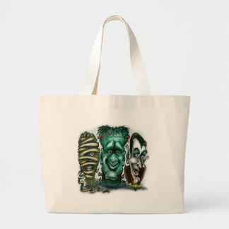 Movie Monsters Large Tote Bag