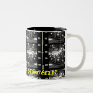 """Movie Mug"" coffee cup by Zoltan Buday Two-Tone Mug"