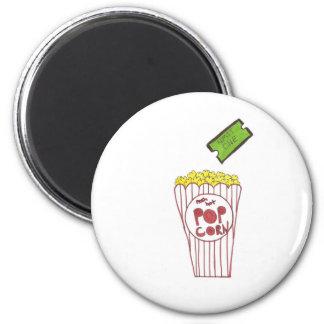 Movie Night 6 Cm Round Magnet