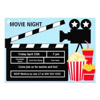 Movie Night Birthday Announcements