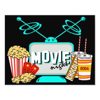 Movie Night Birthday Party Celebration 11 Cm X 14 Cm Invitation Card