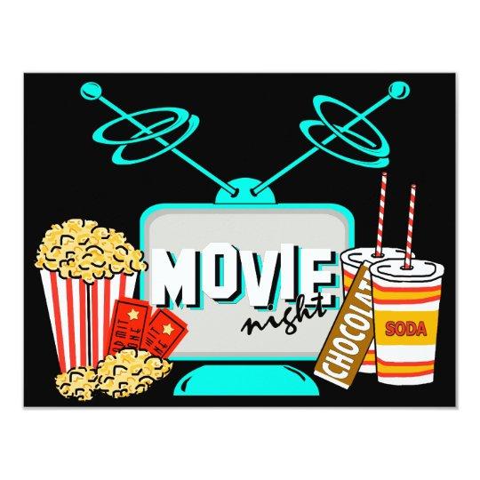 Movie Night Birthday Party Celebration Card