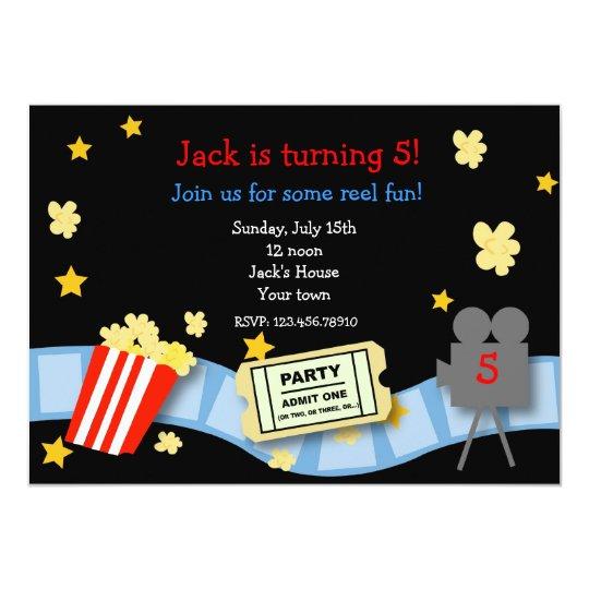 Movie Night Birthday Party invitations