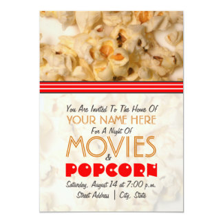 Movie Night Invitation - Popcorn