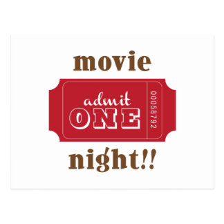 Movie Night!! Postcard