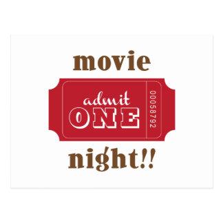 Movie Night!! Postcard