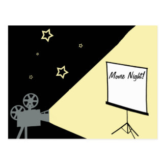 movie night under the stars postcard