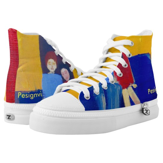 Movie Night-Unisex sneaker with original painting Printed Shoes