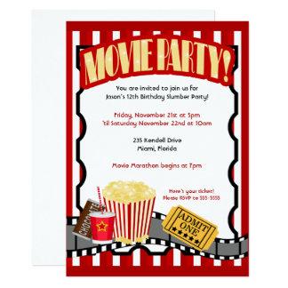 MOVIE PARTY Ticket Birthday Invitations *Updated*