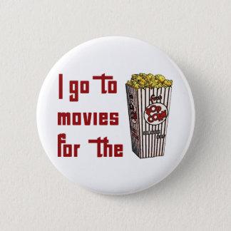 Movie Popcorn 6 Cm Round Badge