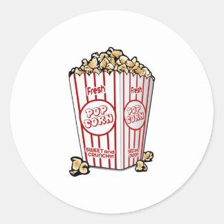 Movie Popcorn Classic Round Sticker