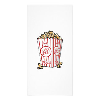 Movie Popcorn Customized Photo Card