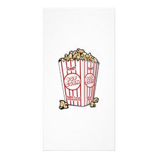 Movie Popcorn Customized Photo Card