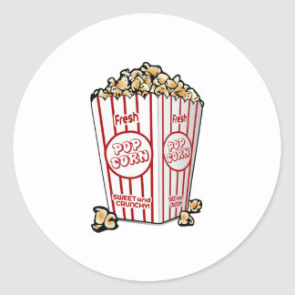 Movie Popcorn Round Sticker
