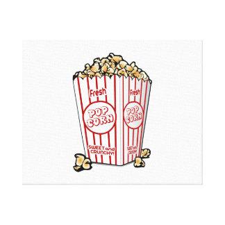 Movie Popcorn Stretched Canvas Prints