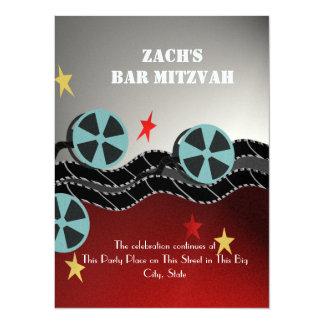 Movie Premiere Bar Mitzvah 14 Cm X 19 Cm Invitation Card