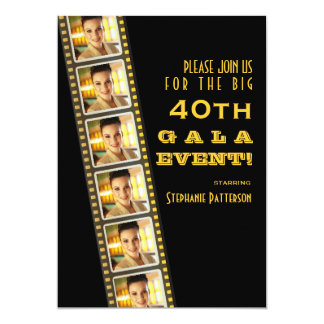 Movie Premiere Celebrity 40th Birthday Photo Gala 13 Cm X 18 Cm Invitation Card