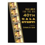 Movie Premiere Celebrity 40th Birthday Photo Gala Custom Invites