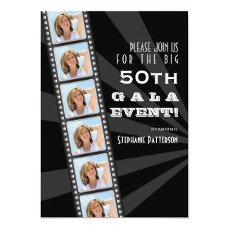 Movie Premiere Celebrity 50th Birthday Photo Gala Card