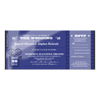 Movie Premiere Wedding Tickets Invitations