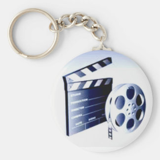 Movie Producer Basic Round Button Key Ring