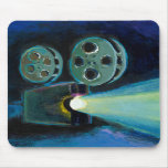 Movie projector colourful expressive painting art mousemats