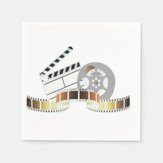 Movie Reel and Clapperboard Paper Napkins