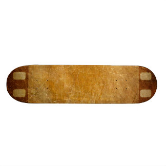 MOVIE REEL OLD-FASHIONED GRUNGE GOLD BACKGROUND DI SKATE DECK