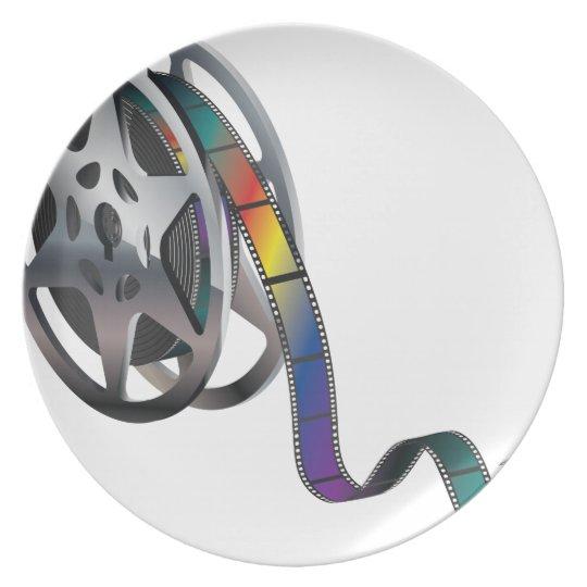Movie Reel Plate