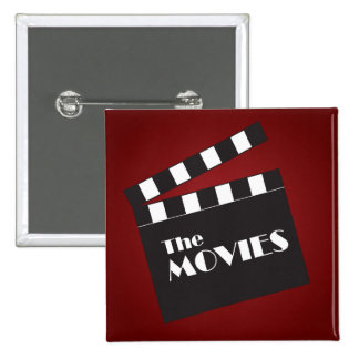 Movie Slate Clapboard 15 Cm Square Badge