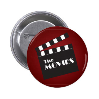Movie Slate Clapboard 6 Cm Round Badge