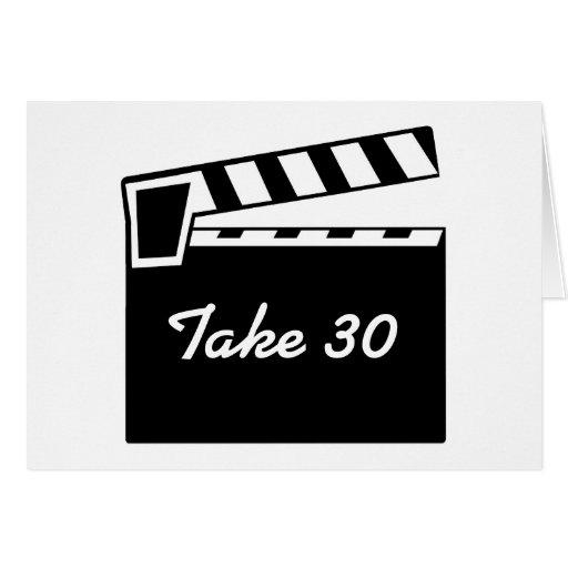 Movie Slate Clapperboard Board Birthday Card