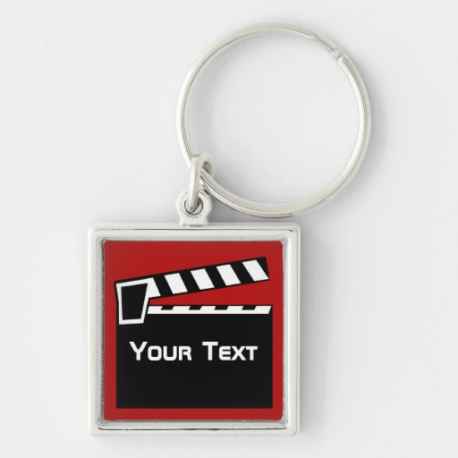 Movie Slate Clapperboard Luggage Laptop Zip Pull Key Chain