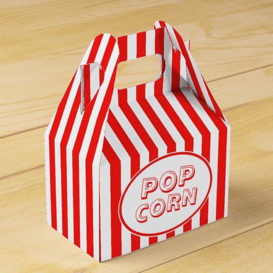 Movie Snack Bar Red And White Pop Corn