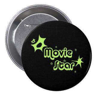Movie star 7.5 cm round badge