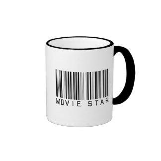 Movie Star Bar Code Coffee Mugs