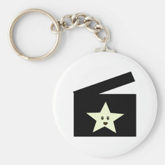 Movie Star Basic Round Button Key Ring