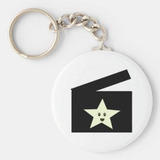 Movie Star Basic Round Button Key Ring
