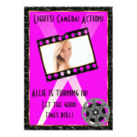 Movie Star Pink Glitter Invite