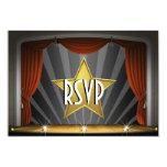 Movie Star RSVP 9 Cm X 13 Cm Invitation Card