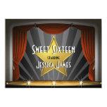 Movie Star Sweet Sixteen 13 Cm X 18 Cm Invitation Card