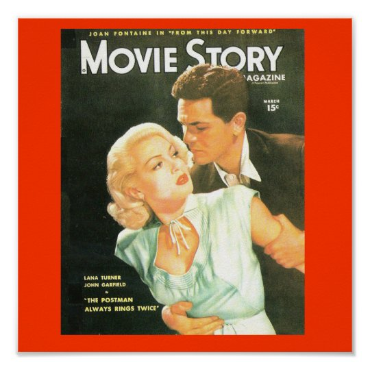 Movie Story Cover 1940's Lana Turner Print