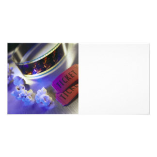 Movie Theater Film, Popcorn & Tickets Photo Greeting Card