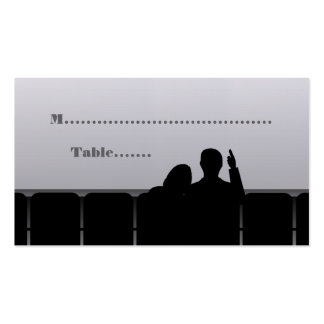 Movie Theater Place Cards Gray Business Card Template