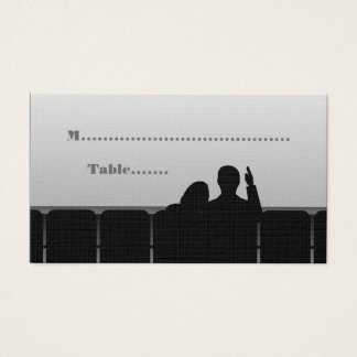 Movie Theater Place Cards, Gray Business Card