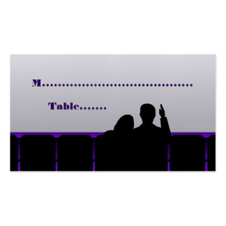 Movie Theater Place Cards Purple Business Cards