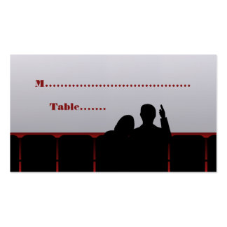Movie Theater Place Cards, Red Double-Sided Standard Business Cards (Pack Of 100)