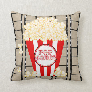Movie Theater Popcorn and Film Pillow-red Cushion