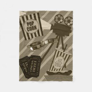 Movie Theater Props Vintage Design Fleece Blanket